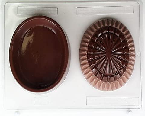 Large crystal egg lid & bottom E064 Easter Chocolate Candy Mold
