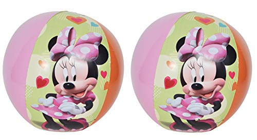 (UPD Disney Inflatable Beach Balls - 2 Pack - Minnie Mouse, Daisy Duck)