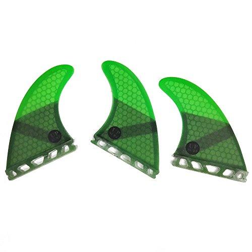 UPSURF Surfboard fin Future Basic Fin Medium Size, G5 tri Fin Choose Color (Green)
