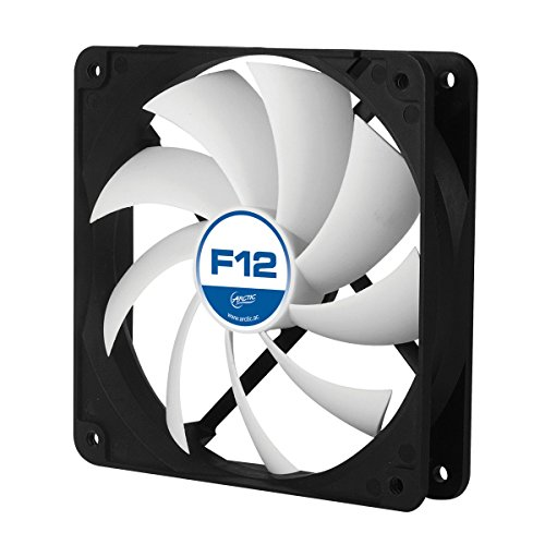 ARCTIC F12 - 120 mm Standard Case Fan | Ultra Low Noise Cooler | Silent Cooler with Standard Case | Push- or Pull Configuration possible