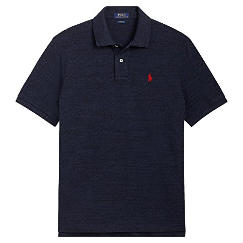 Polo Ralph Lauren Men's Big and Tall Pique Cotton Polo Shirt (2XLT, Worth Navy Heather) ()