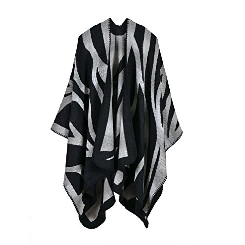 Bakerdani Women's Winter Wrap Blanket Poncho Cape Shawl Cardigans ()