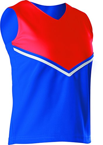 Alleson Women's Cheerleading V Shell Top with Braid