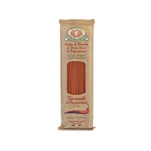 Spaghetti Wheat Rustichella Dabruzzo - Rustichella d'Abruzzo Durum Wheat Chili Pepper Tonnarelli (Spaghetti) Pasta - 17.6 oz (2 Pack)