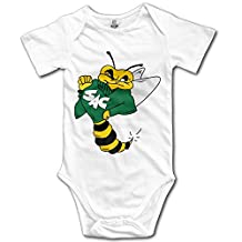 NUBIA Boys & Girls Sacramento State Bee Short-Sleeve Romper Play Suit White