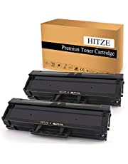 HITZE Compatible Toner Cartridge Replacement for Samsung MLT-D111S MLT 111S 111L MLT-D111L, Use with Xpress SL M2020W M2020 M2070 2070 M2070W M2070FW M2024W (Black, High Yield, 2 Pack)