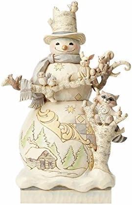 Enesco Heartwood Woodland Snowman Statue