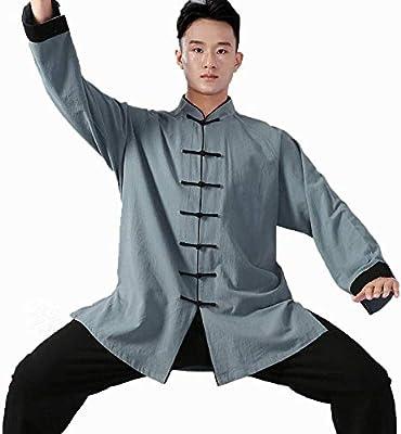Unisex Tai Chi Ropa Camisa Uniformes Kung Fu Artes Marciales Traje ...