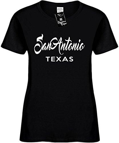 Women's Size 3X Funny T-Shirt (San Antonio Texas (City State) Ladies Shirt