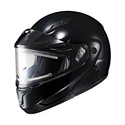 - HJC CL-MAX 2 Solid Snowmobile Helmet w/Electric Shield Black XL