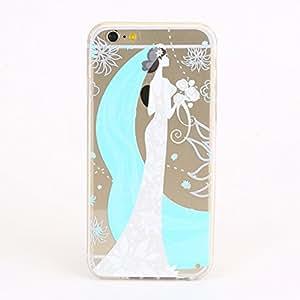 iPhone 6Funda, E-age de colores estampado Floral transparente TPU Case Skin Cover Compatible con Apple iPhone 64,7(A9)