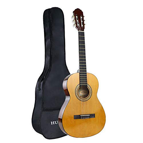Classical Guitar 36inch 3/4 Size Beginner Guitar Nylon Strings Starter Set w/Case, Natural