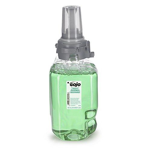 Four Refills - GOJO 8716-04 Botanical Foam Handwash, Botanical Fragrance, 700mL Refill, Dark Green (Case of 4)