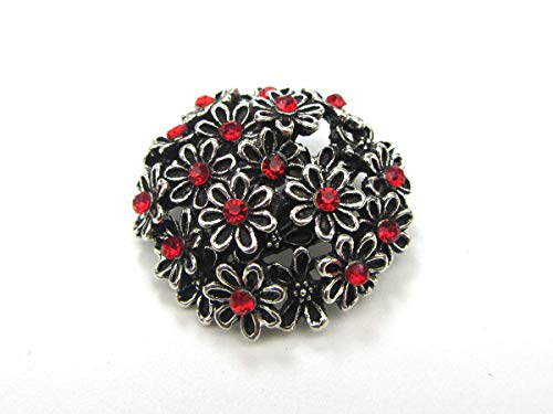 18mm 3D Rhinestone Drill Snaps Chunk Charm Button For Noosa Leather Bracelets #9