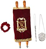"Zion Judaica Ltd Complete Torah Scroll, TR3-19"" Long"