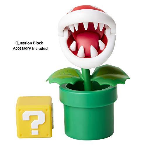 "Nintendo Super Mario Piranha Plant 4"" Articulated Figure with Question ()"