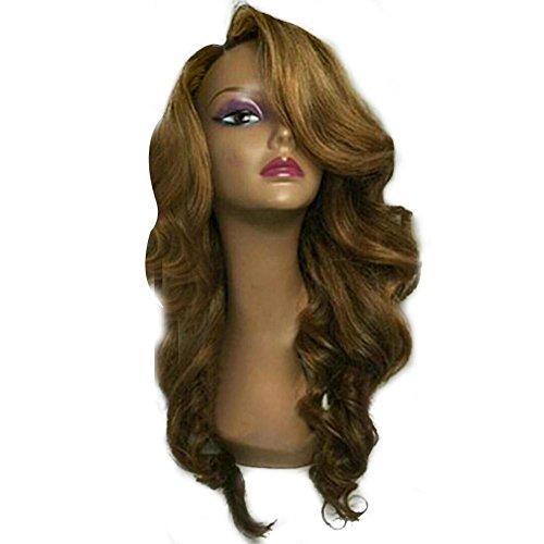 Brazilian long Hair African Ameri Curly Wavy Women Wig Hair by BleuMoo