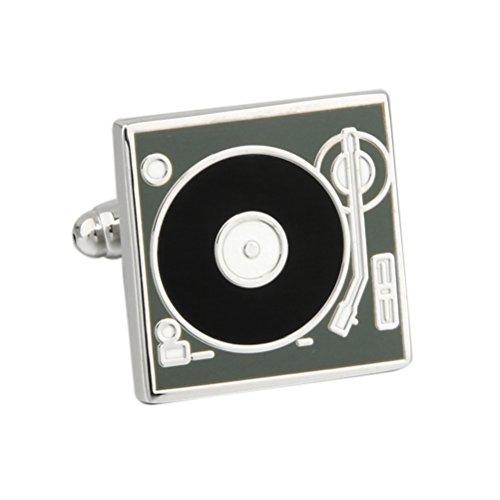 (Dj Stereo Vinyl Retro Lp Record Player Deck Cufflinks)