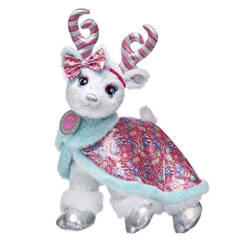 Build A Bear Workshop Candy Cane Glisten Reindeer Stuffed Animal Gift Set, 15 Inches (Bears Cane Candy)