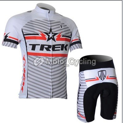 2011 the hot new model White TREK Set short-sleeved jersey/Perspiration breathable cycling clothing (available Size:S, M, L, Xl, Xxl,XXXL)