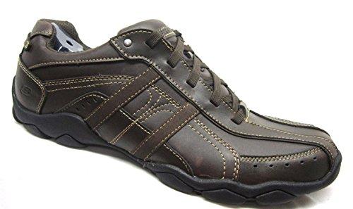 e9b38f6e363cd Galleon - Skechers Mens Diameter - Murilo Oxford Brown Size 11.5