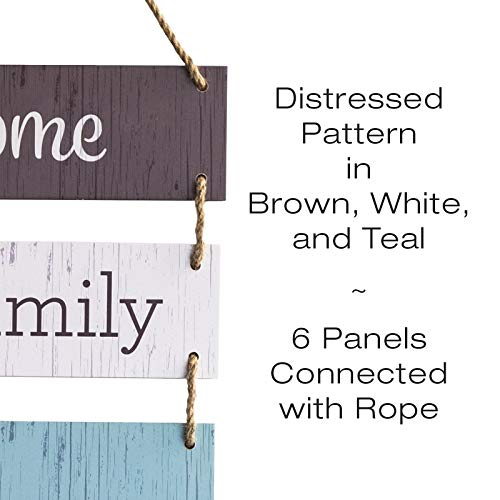 Excello Global Products Large Hanging Wall Sign: Rustic Wooden Decor (Home, Family, Love, Laugh, Live, Happiness… 2