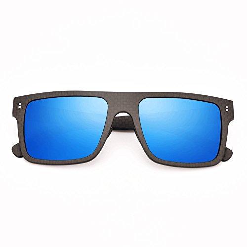 Blasses Carbon Fiber Polarized Unisex Sunglasses -UV 400 Protection (black - Fiber Carbon Glasses
