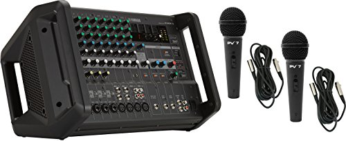 Yamaha EMX5 12 Channel 2x630W Powered Mixer w/ 2 Mics and 2 XLR Cables by Y..A..M..A..H..A..