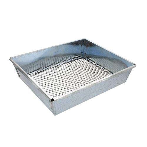 Redneck Convent Trapping Dirt Sifter - 9 by 7 Inch Trapping Sifter Metal Dirt Sifter for Trapping, Garden Sieve, Beach Sand ()