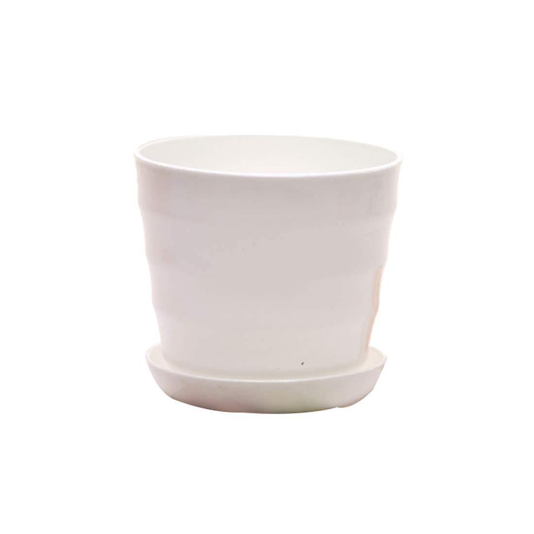 Godagoda Screw Flowerpot Color high-Light Plastic Horizontal Grain Imitation Porcelain Basin Resin Big Flowerpot Multi-Meat Flowerpot