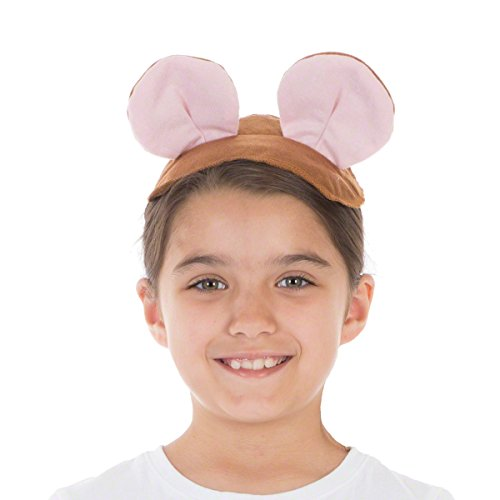 Charlie Crow Brown Mouse Ears & Tail Set for Kids one Size fits All 3+ Years ()