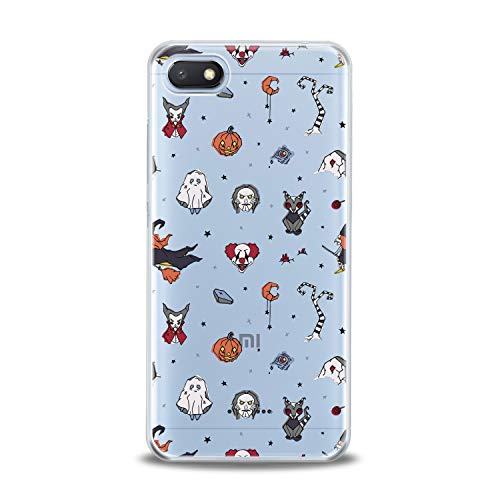 Lex Altern TPU Case for Xiaomi Redmi Note 7 6 Pro 6A 5 5A 4A 4X S2 F1 Halloween Theme Flexible Orange Pumpkins Smooth Scary Clear Clown Design Soft Ghost Slim fit Cover Print Gift Tree Lightweight]()