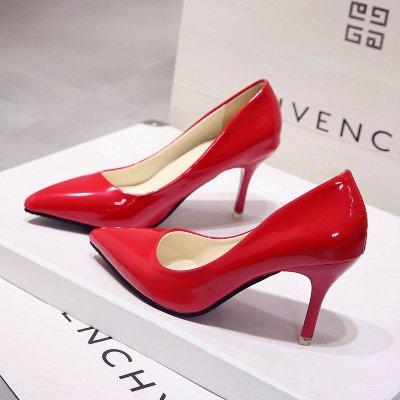Femme Escarpins À Femme Bleu Verni en red des Chaussures Chaussures Chaussures VIVIOO Talons Hauts Taille Hauts Noires 7cm Couleur Mariage Talons Pointue Cuir avec Nue De Grande qAwY5Bd