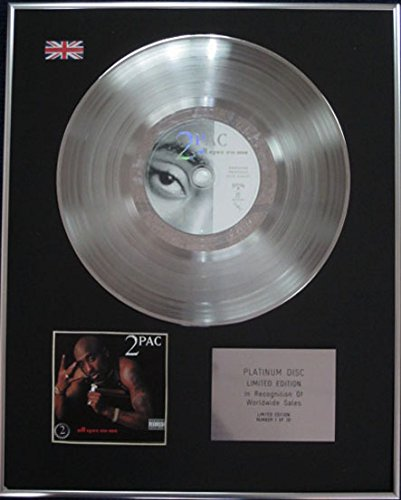 Century Music Awards 2 PAC Platin-CDs, Limitierte Auflage, All Eyez On Me