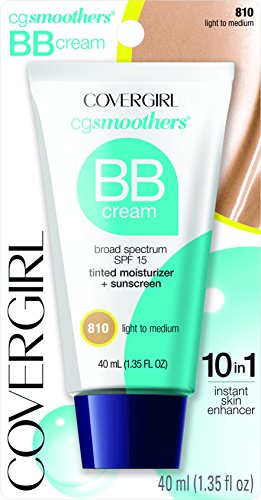 COVERGIRL Smoothers Lightweight BB Cream, 1 Tube (1.35 oz), Light to Medium Skin Tones, Hydrating BB Cream with SPF 15 Sun Protection (packaging may vary) Cover Girl Smoothers Liquid Makeup