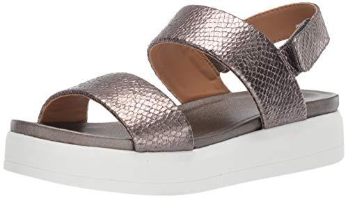 Franco Sarto Women's Kenan Wedge Sandal Pewter 9 M US