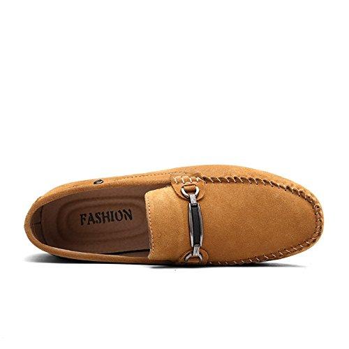 y Casual Gamuza Mocasines Ons Rojo Hombre Zapatos de Otoño Azul Comfort Primavera Marrón HUAN Gris Marrón Slip Para C Negro tq807Bwx