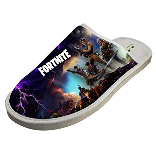 FORTNITE,Funny soft Printing Cotton Slippers/Flat Shoes/Indoor Slippers Non-Slip Sole by Unicorn Eye