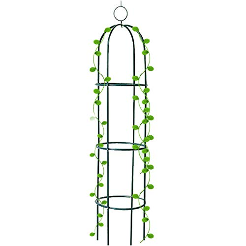 Tower Obelisk Garden Trellis Plant Support for Climbing Vines and Flowers Stands 6.3 Feet Tall,Black Green Lightweight Plant - Vine Garden