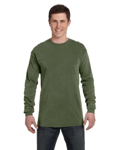 (Comfort Colors Ringspun Garment-Dyed Long-Sleeve T-Shirt (C6014)- HEMP, XL)