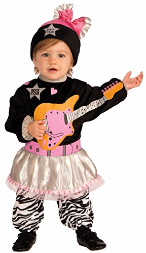 Forum Novelties Baby Boy's Lil' Rock Star 80's Baby Girl Costume, Multi, Infant
