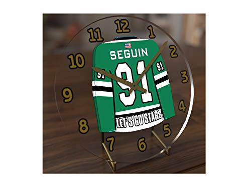 FanPlastic N H L Hockey Jersey Themed Clock - All Central Division Team Colours - Our Very OWN 'Let's GO' Range of Clocks !! (Let's Go Stars Edition) ()