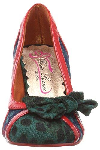 Chiusa R It Scarpe Licence Choice Irregular Shake teal Donna By Poetic Verde Tacco Col Punta qwBv6afv