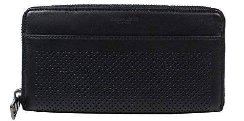 COACH ACCORDION WALLET PERFORATED LEATHER