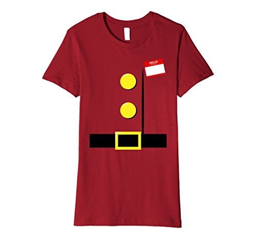 Womens Dwarf Halloween Group Costume Idea T-Shirt with Name Plaque XL Cranberry - Ideas For Halloween Costumes For Groups