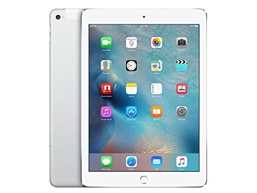 Apple MH2N2LL/A iPad Air (2nd Generation) 64GB Wi-Fi + Cellular Tablet, Silver/White - (Renewed)