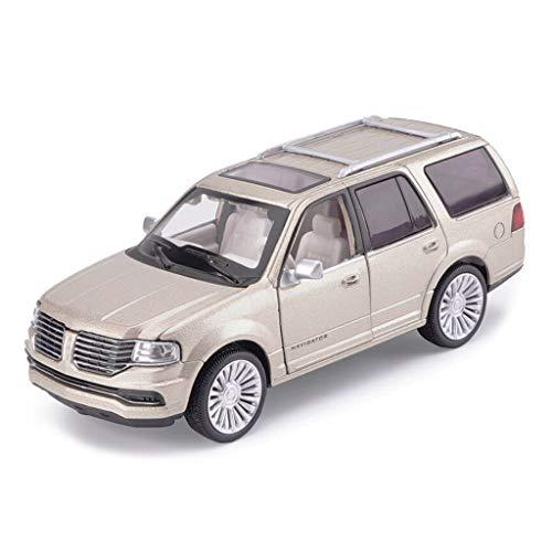 SXET-Model car Model Car Toy Car Model Sound and Light Pull Back Toy Off-Road Vehicle 1:32 Lincoln Navigator Alloy Model Car (Color : Gold)