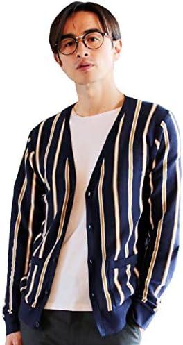 メンズ カーディガン 羽織り 綿 コットン ニット 長袖 Vネック おうちファッション テレワーク 服