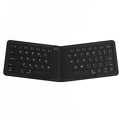 Kanex K166-1128 MultiSync Foldable Travel Bluetooth Wireless Keyboard