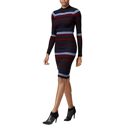 Sweaterdress Womens Bar Righe Iii Fuoriuscita Lunghe Maniche Dell'inchiostro 8wfxqw
